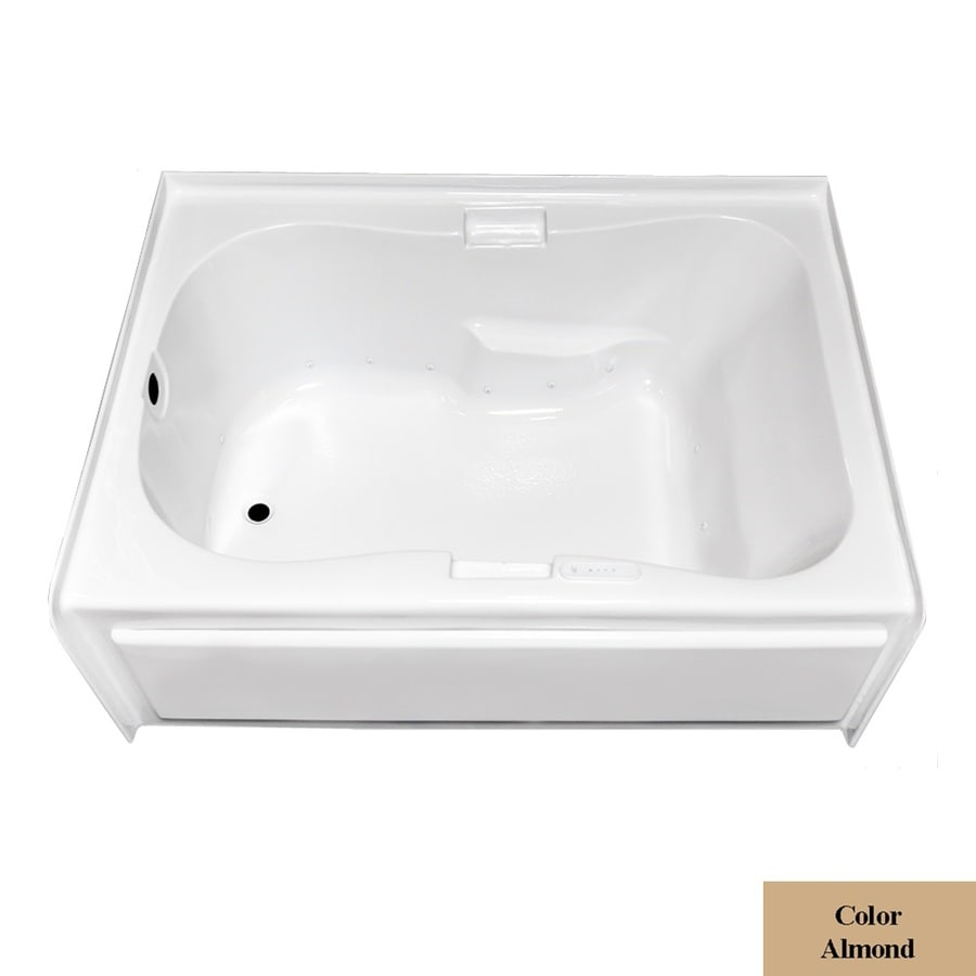 Laurel Mountain Hourglass I Plus Skirted Alcove 60-in L x 42-in W x 21.5-in H Almond Acrylic Hourglass In Rectangle Skirted Air Bath
