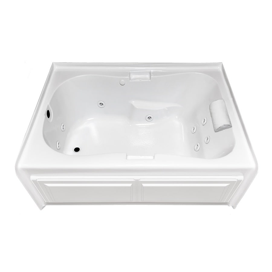 Laurel Mountain Hourglass I Plus 59.5-in L x 41.75-in W x 21.5-in H 1-Person White Acrylic Hourglass In Rectangle Whirlpool Tub and Air Bath