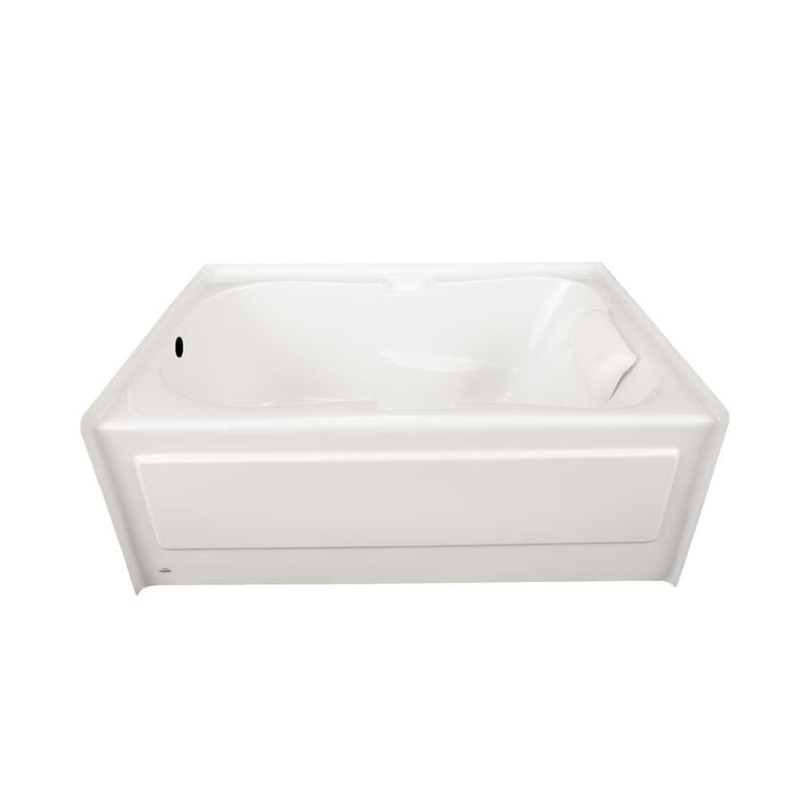 Laurel Mountain Hourglass I Plus 59.5-in White Acrylic Alcove Bathtub with Left-Hand Drain