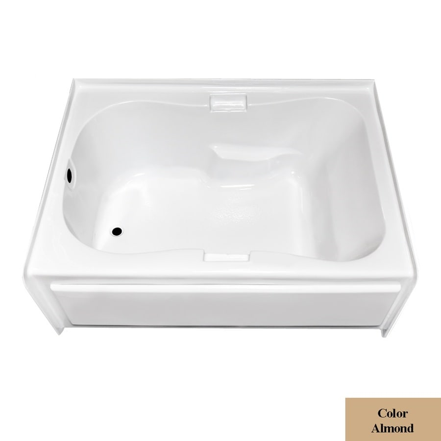 Laurel Mountain Hourglass I Plus Almond Acrylic Hourglass In Rectangle Skirted Bathtub with Left-Hand Drain (Common: 42-in x 60-in; Actual: 21.5-in x 41.75-in x 59.5-in