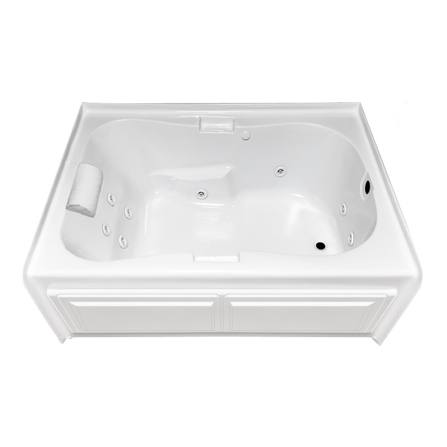 Laurel Mountain Hourglass II Plus 72-in L x 42-in W x 21.5-in H White Acrylic Hourglass In Rectangle Whirlpool Tub and Air Bath