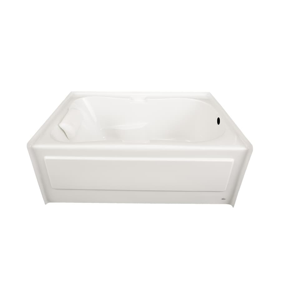 Laurel Mountain Hourglass II Plus 71.75-in White Acrylic Alcove Bathtub with Right-Hand Drain