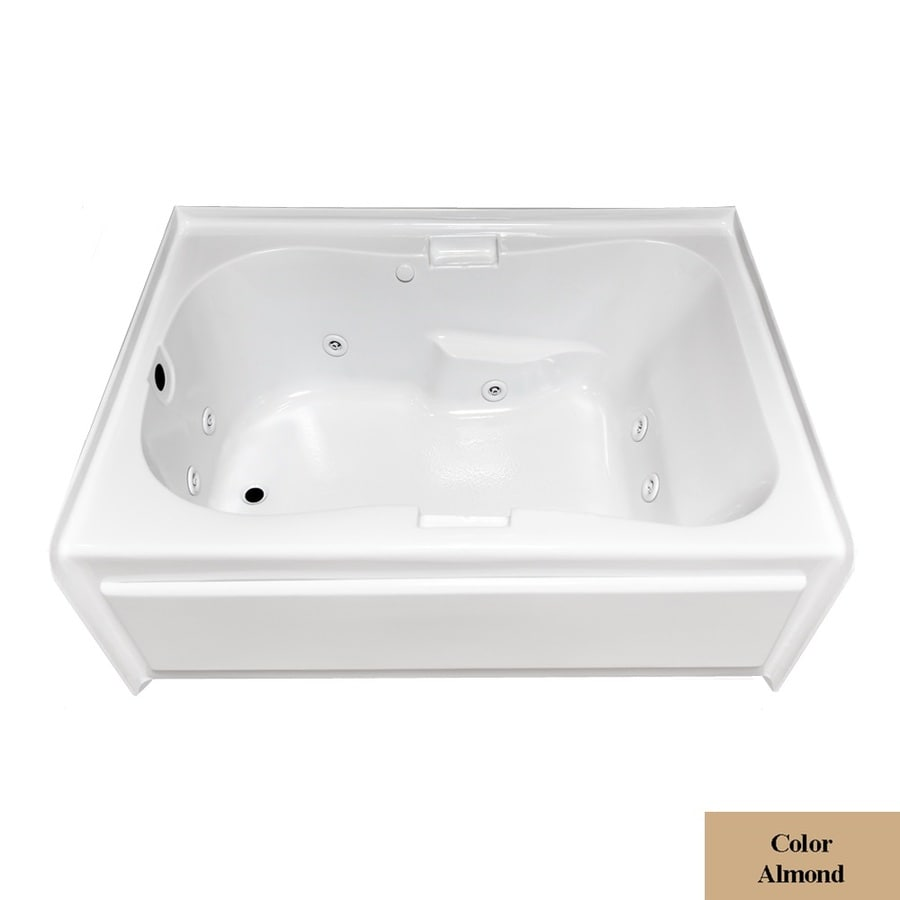 Laurel Mountain Hourglass Ii Plus 1-Person Almond Acrylic Hourglass In Rectangle Whirlpool Tub (Common: 42-in x 72-in; Actual: 21.5-in x 41.75-in x 71.75-in)