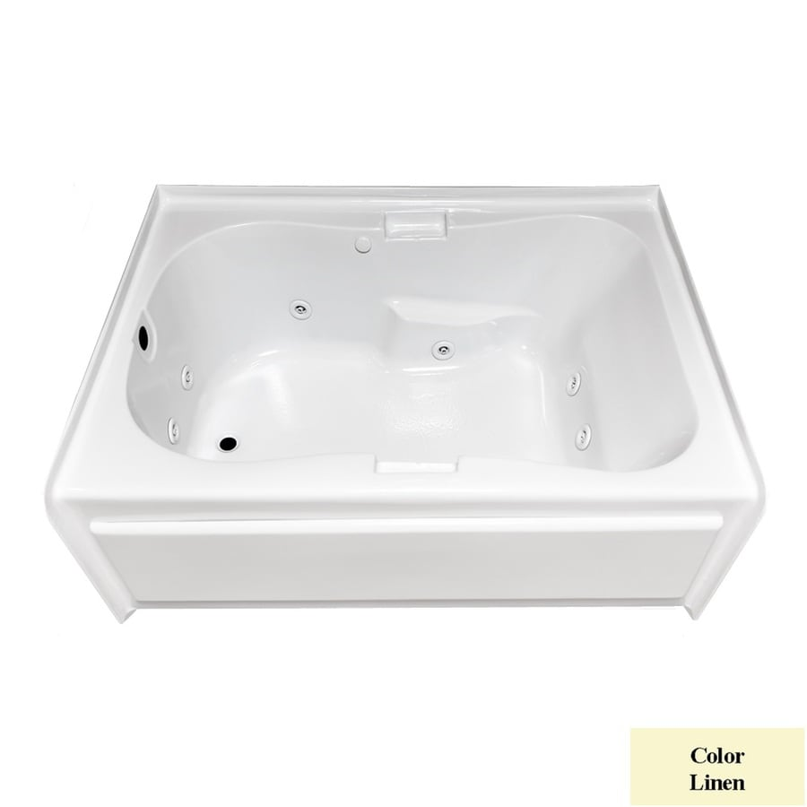 Laurel Mountain Hourglass II Plus Linen Acrylic Hourglass In Rectangle Whirlpool Tub (Common: 42-in x 72-in; Actual: 21.5-in x 41.75-in x 71.75-in)