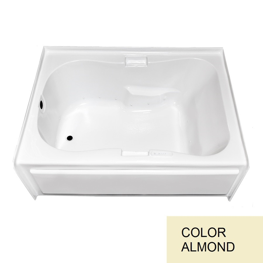 Laurel Mountain Hourglass II Plus Skirted Alcove 72-in L x 42-in W x 21.5-in H Almond Acrylic Hourglass In Rectangle Skirted Air Bath