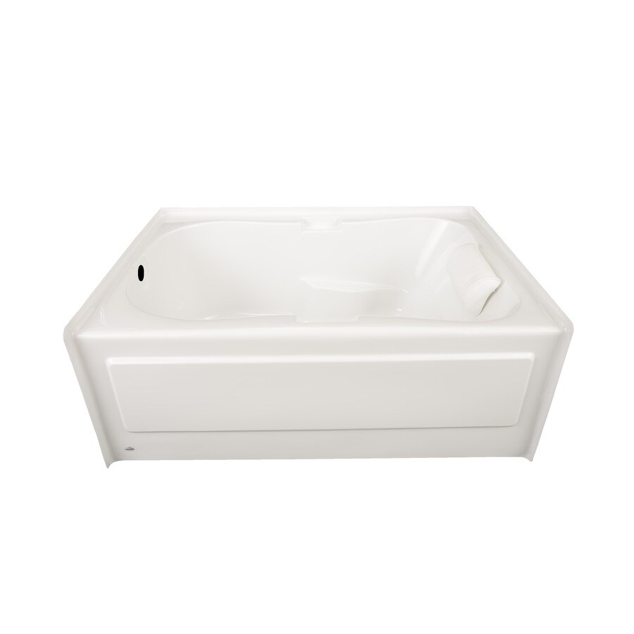Laurel Mountain Hourglass Ii Plus White Acrylic Hourglass In Rectangle Skirted Bathtub with Left-Hand Drain (Common: 42-in x 72-in; Actual: 21.5-in x 41.75-in x 71.75-in