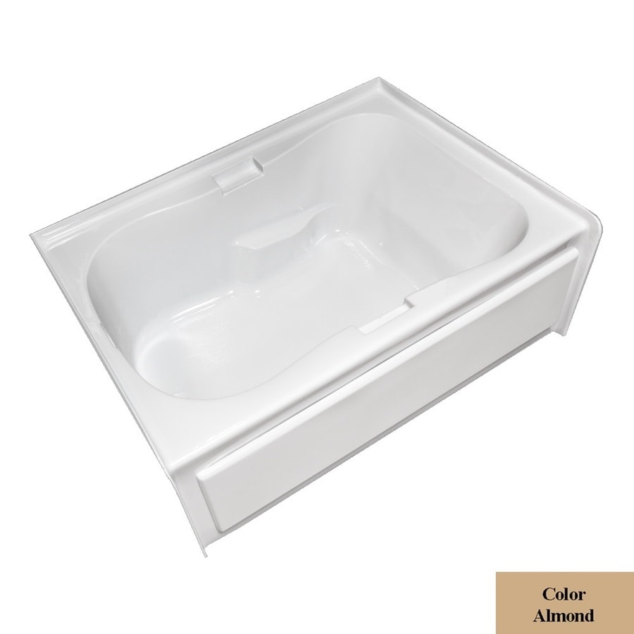 Laurel Mountain Hourglass Ii Plus Almond Acrylic Hourglass In Rectangle Skirted Bathtub with Left-Hand Drain (Common: 42-in x 72-in; Actual: 21.5-in x 41.75-in x 71.75-in