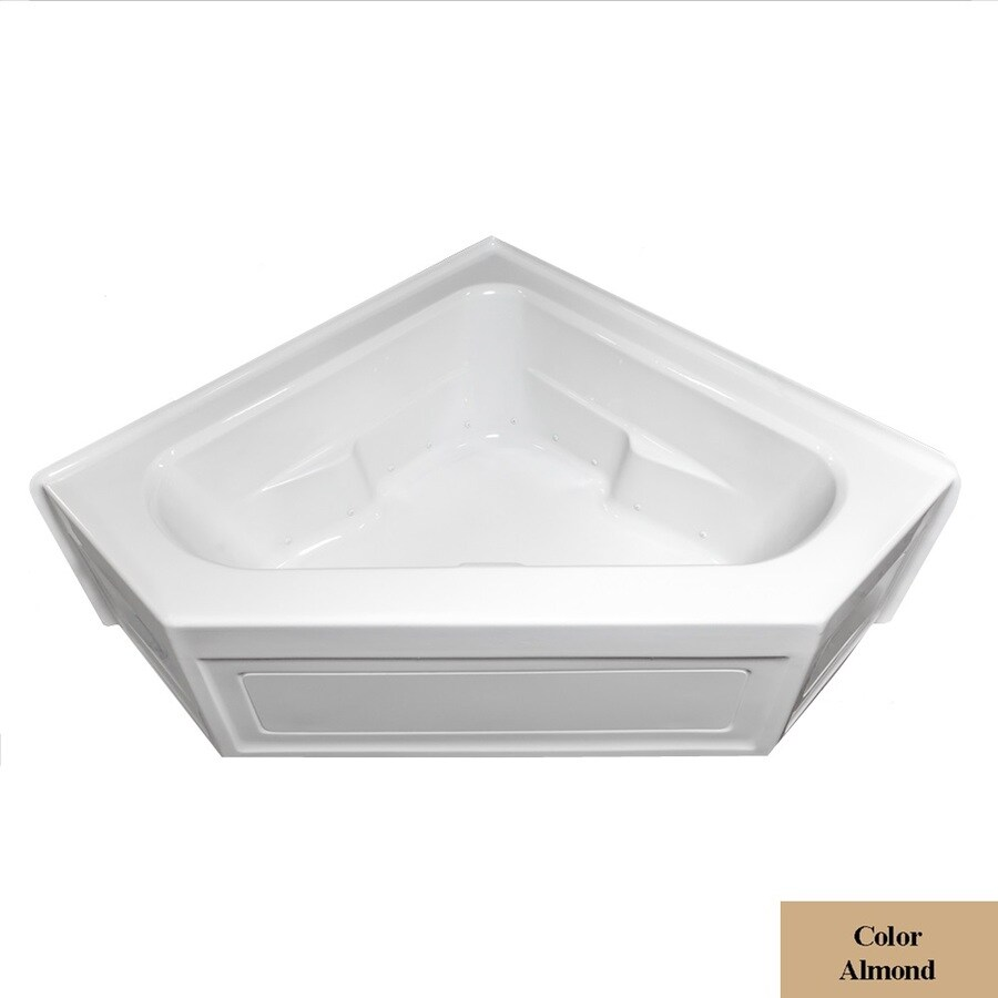 Laurel Mountain Inland 60-in L x 60-in W x 22-in H Almond Acrylic 2-Person Corner Skirted Air Bath