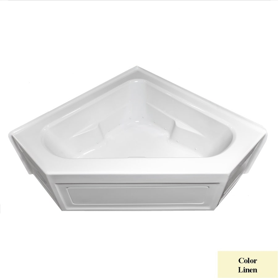 Laurel Mountain Inland 60-in L x 60-in W x 22-in H Linen Acrylic 2-Person Corner Skirted Air Bath