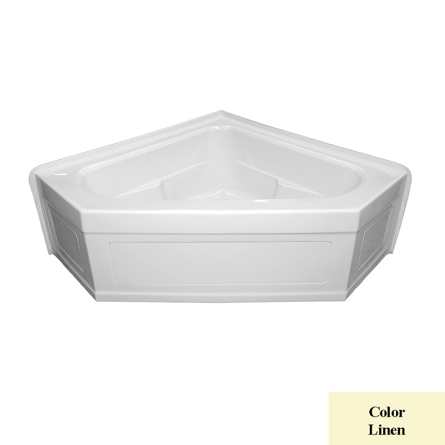 Laurel Mountain Inland 59-in L x 59-in W x 22-in H 2-Person Linen Acrylic Corner Whirlpool Tub and Air Bath
