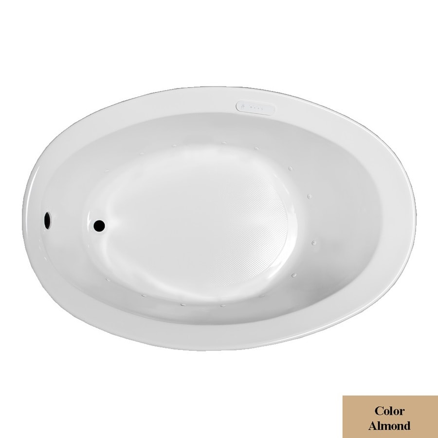 Laurel Mountain Jewel 56-in L x 38-in W x 21-in H Almond Acrylic Oval Drop-in Air Bath