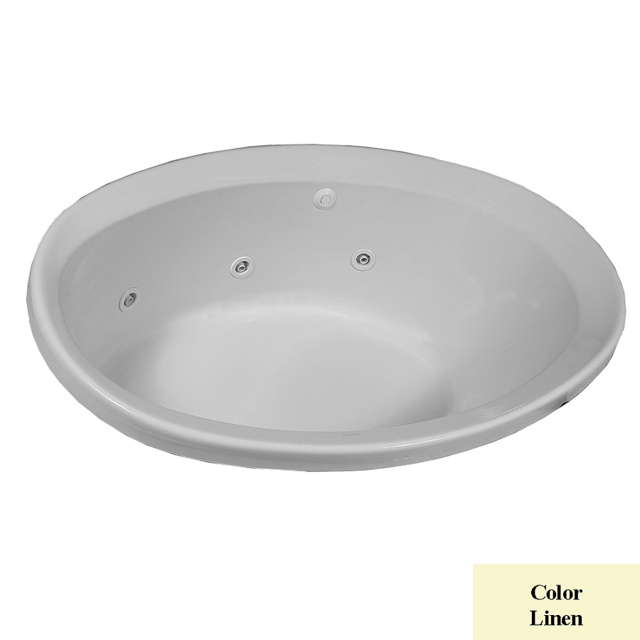 Laurel Mountain Jewel 56-in L x 38-in W x 22.5-in H 1-Person Linen Acrylic Oval Whirlpool Tub and Air Bath