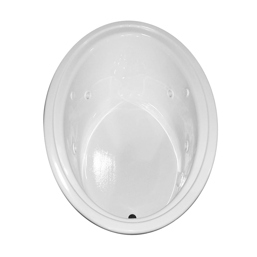 Laurel Mountain Kirby 60-in L x 41-in W x 19-in H White Acrylic Oval Whirlpool Tub and Air Bath