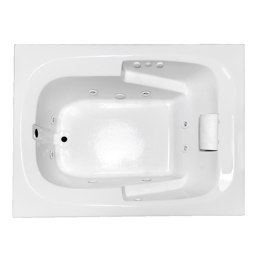 Laurel Mountain Large I Plus White Acrylic Rectangular Whirlpool Tub (Common: 48-in x 60-in; Actual: 23-in x 47.5-in x 59.5-in)