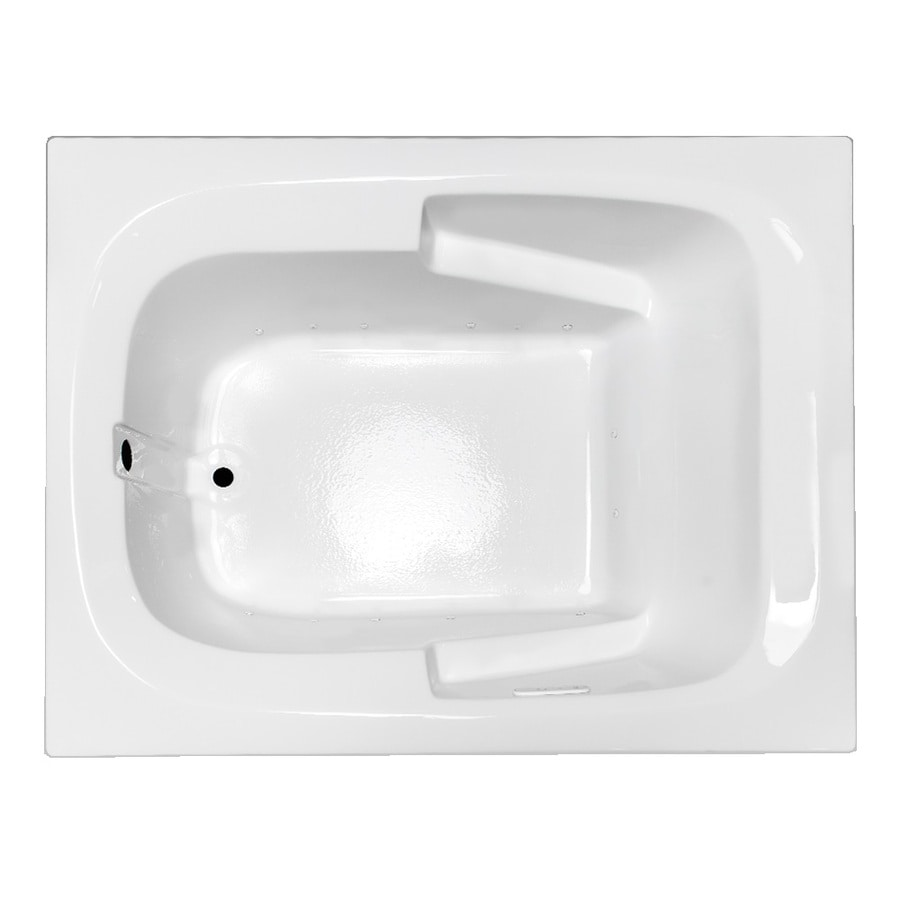 Laurel Mountain Large Plus 60-in L x 48-in W x 23-in H White Acrylic Rectangular Drop-in Air Bath