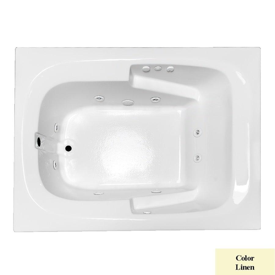 Laurel Mountain Large II Plus Linen Acrylic Rectangular Whirlpool Tub (Common: 48-in x 72-in; Actual: 23-in x 47.5-in x 71.75-in)