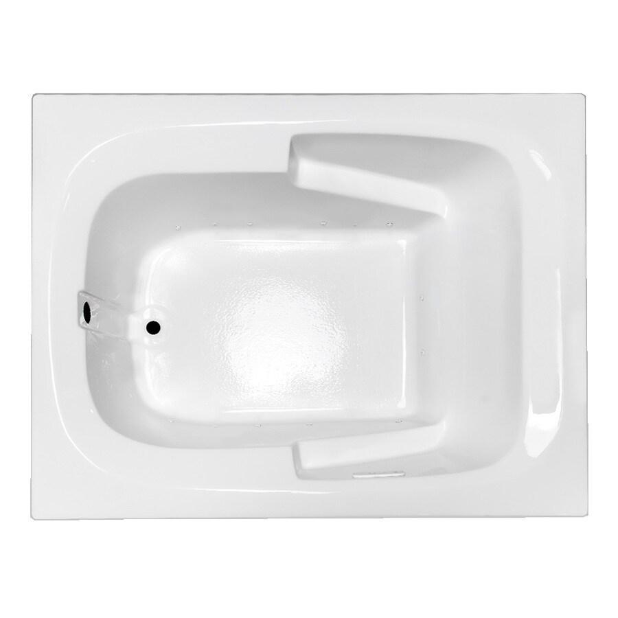 Laurel Mountain Large Plus II 72-in L x 48-in W x 23-in H White Acrylic Rectangular Drop-in Air Bath
