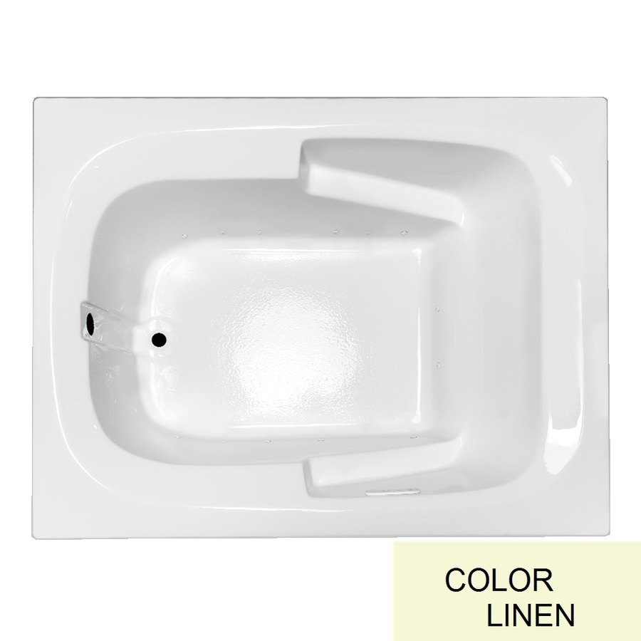 Laurel Mountain Large Plus II 72-in L x 48-in W x 23-in H Linen Acrylic Rectangular Drop-in Air Bath