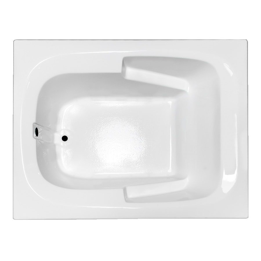 Laurel Mountain Large Ii Plus White Acrylic Rectangular Drop-in Bathtub with Reversible Drain (Common: 48-in x 72-in; Actual: 23-in x 47.5-in x 71.75-in