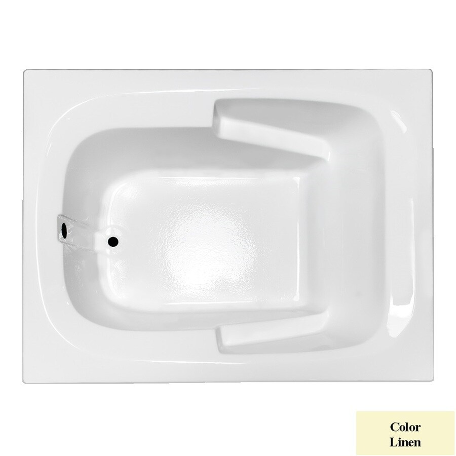 Laurel Mountain Large Ii Plus Linen Acrylic Rectangular Drop-in Bathtub with Reversible Drain (Common: 48-in x 72-in; Actual: 23-in x 47.5-in x 71.75-in