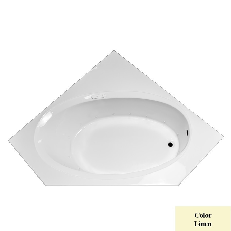 Laurel Mountain Vandale 60-in L x 60-in W x 20.5-in H Linen Acrylic 2-Person Corner Drop-In Air Bath