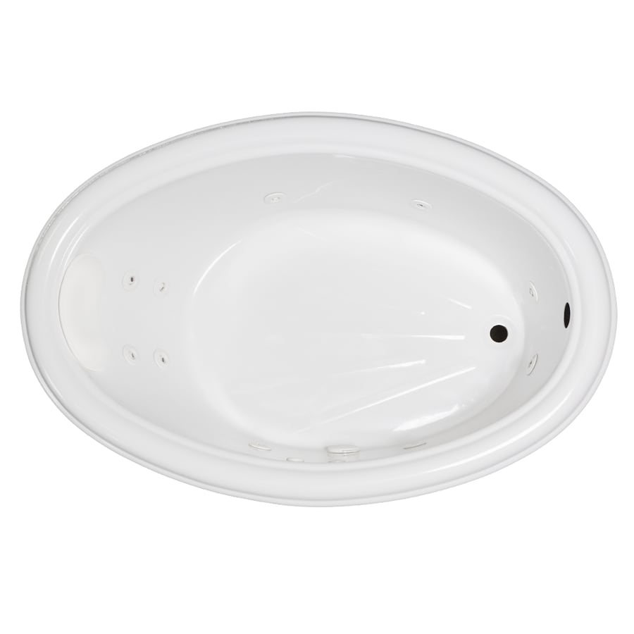 Laurel Mountain Zetta White Acrylic Oval Whirlpool Tub (Common: 40-in x 60-in; Actual: 21.25-in x 40-in x 59.75-in)