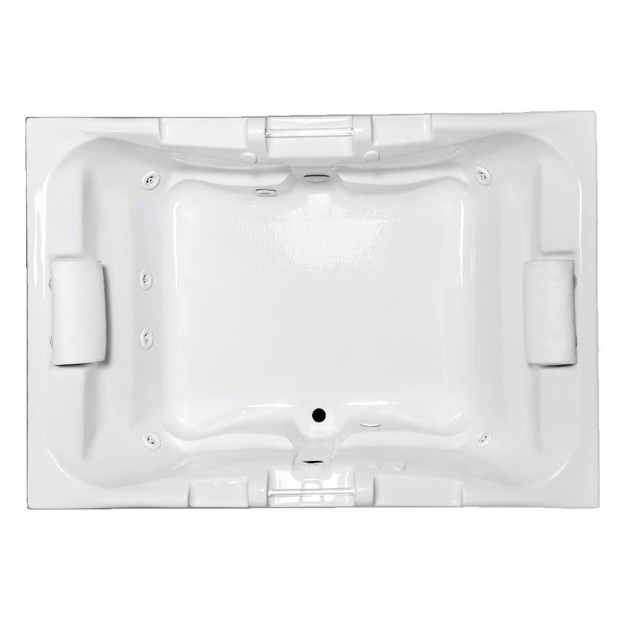 Laurel Mountain Delmont I Deluxe 2-Person White Acrylic Rectangular Whirlpool Tub (Common: 42-in x 60-in; Actual: 23-in x 41.75-in x 59.625-in)