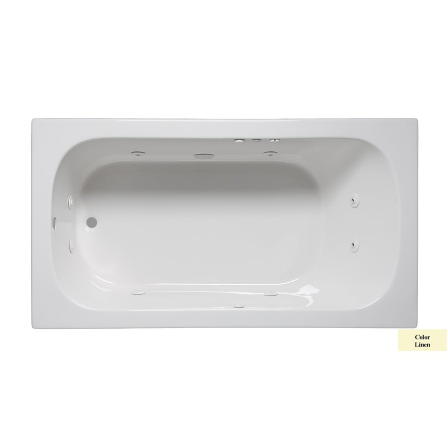 Laurel Mountain Butler Ii 1-Person Linen Acrylic Rectangular Whirlpool Tub (Common: 32-in x 66-in; Actual: 22-in x 32-in x 66-in)