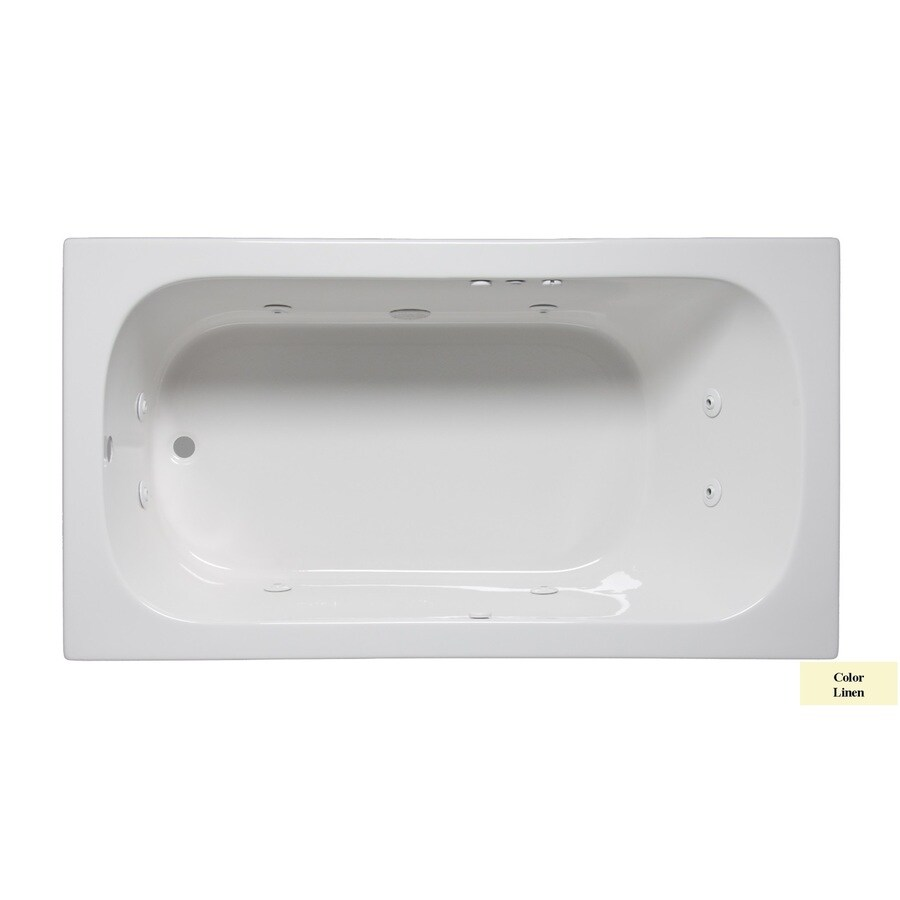 Laurel Mountain Butler Iii 1-Person Linen Acrylic Rectangular Whirlpool Tub (Common: 36-in x 66-in; Actual: 22-in x 36-in x 66-in)