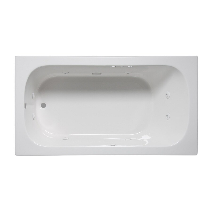 Laurel Mountain Butler Iv 1-Person White Acrylic Rectangular Whirlpool Tub (Common: 36-in x 72-in; Actual: 22-in x 36-in x 72-in)