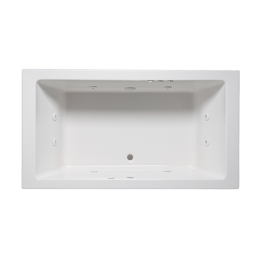 Laurel Mountain Farrell I 2-Person White Acrylic Rectangular Whirlpool Tub (Common: 36-in x 66-in; Actual: 22-in x 36-in x 66-in)