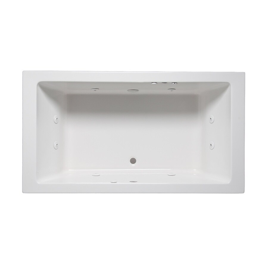 Laurel Mountain Farrell Ii 2-Person White Acrylic Rectangular Whirlpool Tub (Common: 36-in x 72-in; Actual: 22-in x 36-in x 72-in)