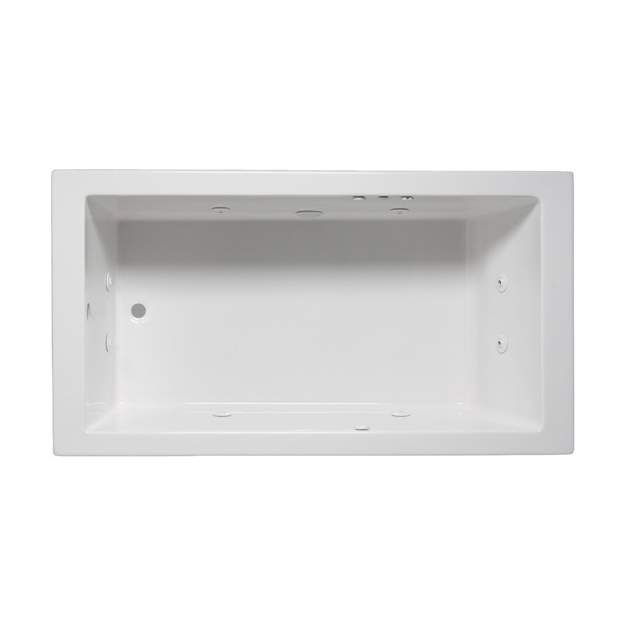 Laurel Mountain Parker Iv 1-Person White Acrylic Rectangular Whirlpool Tub (Common: 32-in x 72-in; Actual: 22-in x 32-in x 72-in)