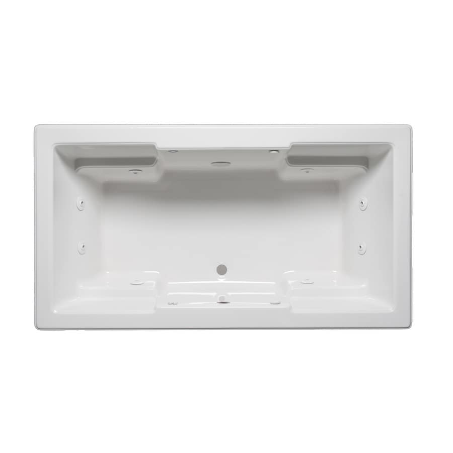 Laurel Mountain Reading 2-Person White Acrylic Rectangular Whirlpool Tub (Common: 42-in x 72-in; Actual: 22-in x 42-in x 72-in)