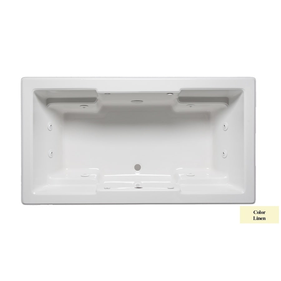 Laurel Mountain Reading 2-Person Linen Acrylic Rectangular Whirlpool Tub (Common: 42-in x 72-in; Actual: 22-in x 42-in x 72-in)