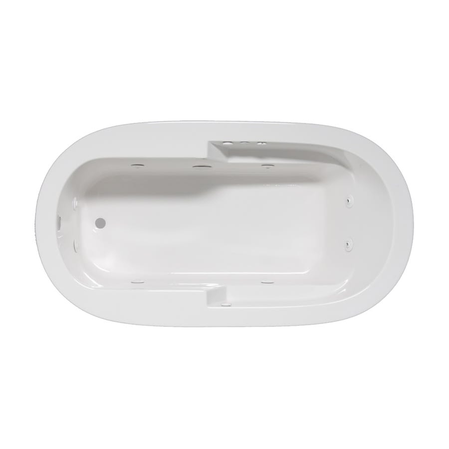 Laurel Mountain Venango 1-Person White Acrylic Oval Whirlpool Tub (Common: 42-in x 72-in; Actual: 22-in x 42-in x 72-in)