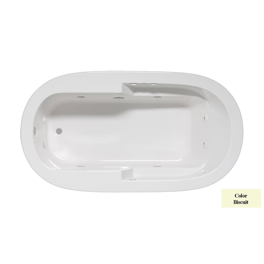 Laurel Mountain Venango 1-Person Biscuit Acrylic Oval Whirlpool Tub (Common: 42-in x 72-in; Actual: 22-in x 42-in x 72-in)