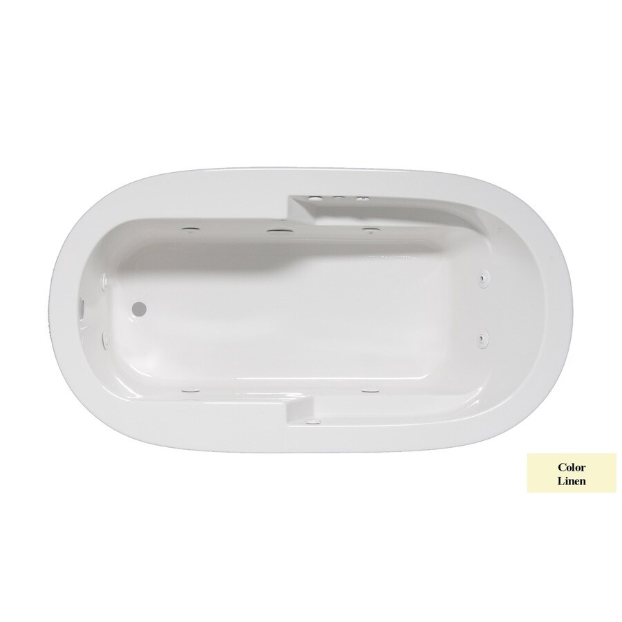 Laurel Mountain Venango 1-Person Linen Acrylic Oval Whirlpool Tub (Common: 42-in x 72-in; Actual: 22-in x 42-in x 72-in)