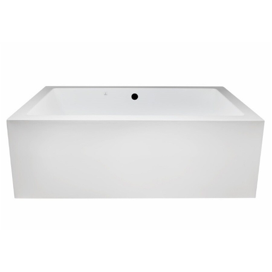 Laurel Mountain Berks Ii 72-in L x 42-in W x 23-in H White Acrylic 2-Person-Person Rectangular Freestanding Air Bath