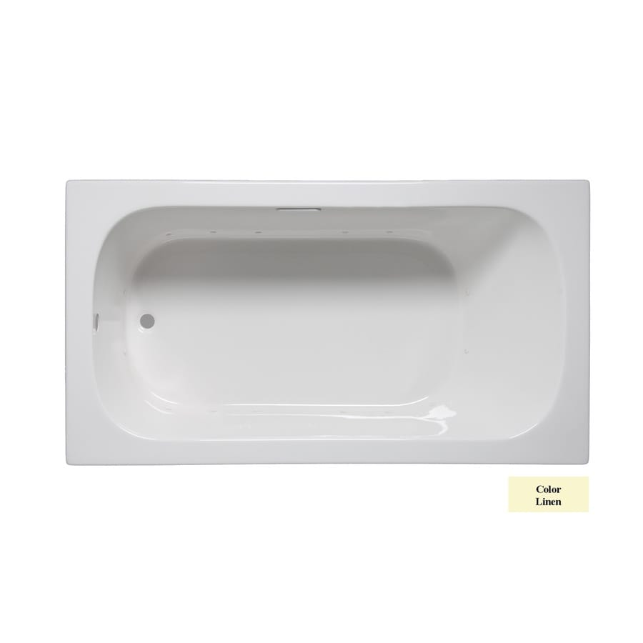 Laurel Mountain Butler I 60-in L x 32-in W x 22-in H Linen Acrylic 1-Person-Person Rectangular Drop-in Air Bath