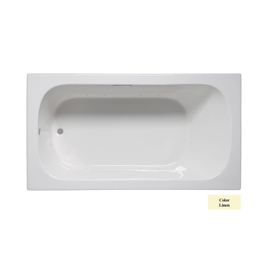 Laurel Mountain Butler II 66-in Linen Acrylic Drop-In Air Bath with Reversible Drain