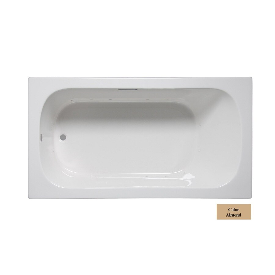 Laurel Mountain Butler Iv 72-in L x 36-in W x 22-in H Almond Acrylic 1-Person-Person Rectangular Drop-in Air Bath