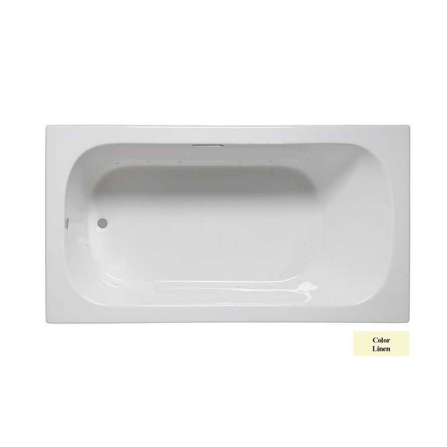 Laurel Mountain Butler IV 72-in Linen Acrylic Drop-In Air Bath with Reversible Drain