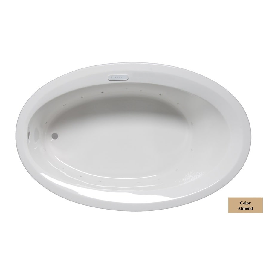 Laurel Mountain Corry I 60-in Almond Acrylic Drop-In Air Bath with Reversible Drain