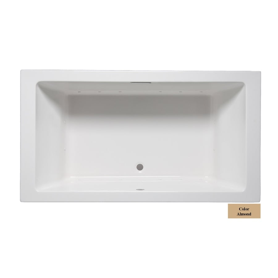 Laurel Mountain Farrell I 66-in L x 36-in W x 22-in H Almond Acrylic 2-Person-Person Rectangular Drop-in Air Bath