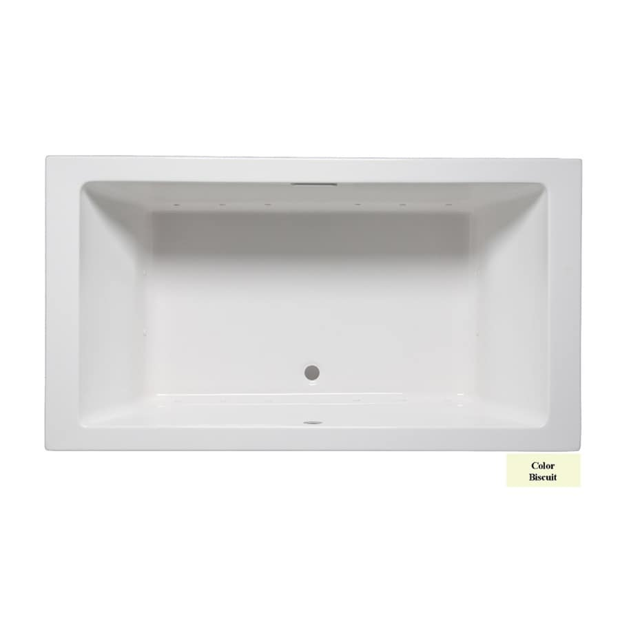 Laurel Mountain Farrell I 66-in L x 36-in W x 22-in H Biscuit Acrylic 2-Person-Person Rectangular Drop-in Air Bath