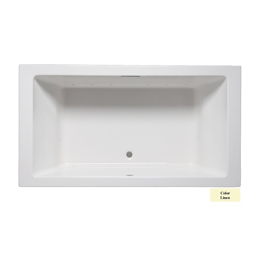 Laurel Mountain Farrell I 66-in L x 36-in W x 22-in H Linen Acrylic 2-Person-Person Rectangular Drop-in Air Bath