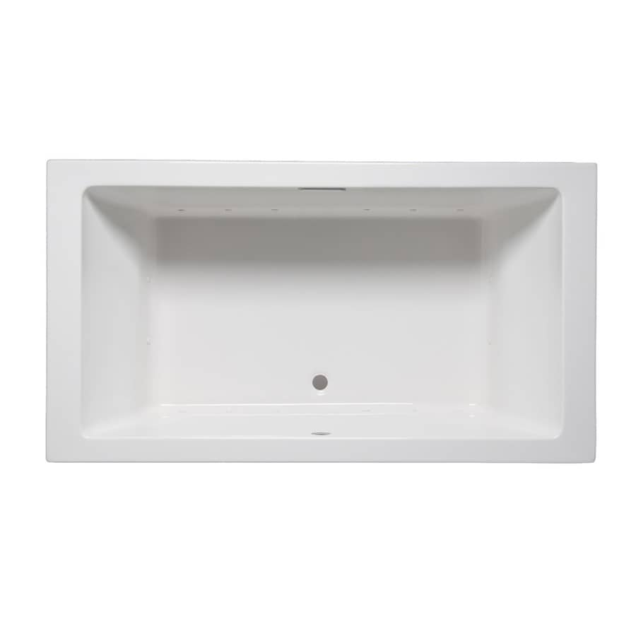 Laurel Mountain Farrell III 66-in White Acrylic Drop-In Air Bath with Front Center Drain