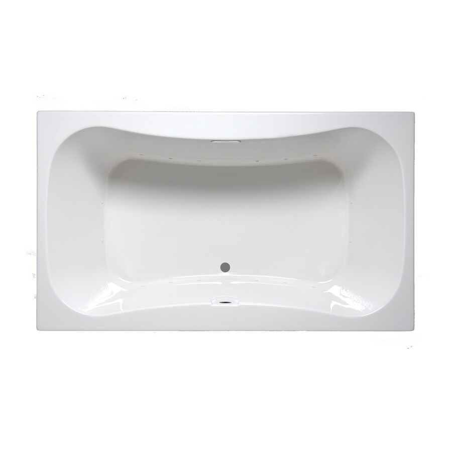 Laurel Mountain Masten I 60-in White Acrylic Drop-In Air Bath with Front Center Drain