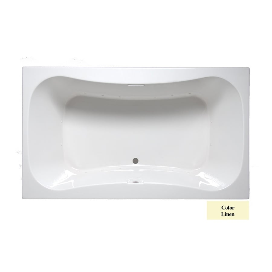 Laurel Mountain Masten I 60-in Linen Acrylic Drop-In Air Bath with Front Center Drain